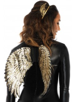 Gold Sequin Angel Wings Gothic Plus Gothic Clothing, Jewelry, Goth Shoes & Boots & Home Decor