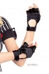 Fingerless Black Motorcycle Gloves
