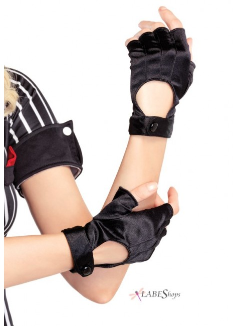 Fingerless Black Motorcycle Gloves at Gothic Plus, Gothic Clothing, Jewelry, Goth Shoes & Boots & Home Decor