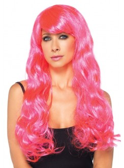 Neon Pink Long Wavy Wig Gothic Plus Gothic Clothing, Jewelry, Goth Shoes & Boots & Home Decor