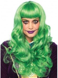 Misfit Mayhem Long Green Wavy Wig Gothic Plus Gothic Clothing, Jewelry, Goth Shoes & Boots & Home Decor
