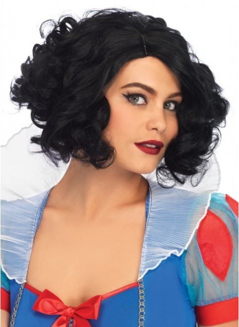 Black Curly Bob Short Wig at Gothic Plus, Gothic Clothing, Jewelry, Goth Shoes & Boots & Home Decor