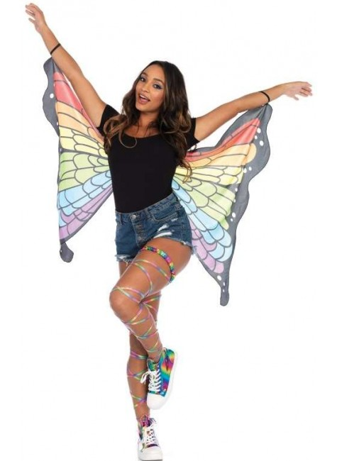 Rainbow Mini Butterfly Festival Wings at Gothic Plus, Gothic Clothing, Jewelry, Goth Shoes & Boots & Home Decor