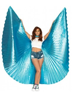 Isis Turquoise Pleated Festival Wings Gothic Plus Gothic Clothing, Jewelry, Goth Shoes & Boots & Home Decor