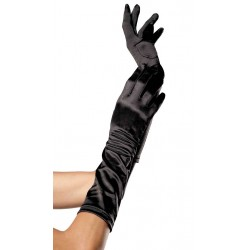 Black Satin Elbow Length Gloves Gothic Plus Gothic Clothing, Jewelry, Goth Shoes & Boots & Home Decor