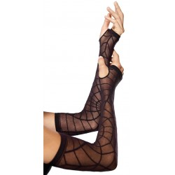 Spiderweb Sheer Black Arm Warmers Gothic Plus Gothic Clothing, Jewelry, Goth Shoes & Boots & Home Decor