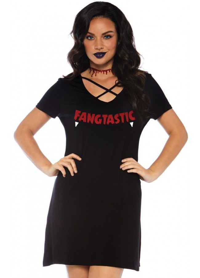 Fangtastic Halloween Party Comfortable Womens Dress Or Costume