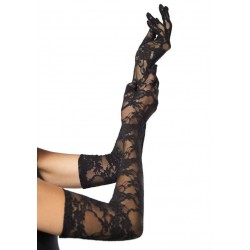 Elegant Black Lace Opera Gloves Gothic Plus Gothic Clothing, Jewelry, Goth Shoes & Boots & Home Decor