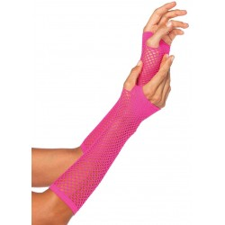 Neon Pink Triangle Net Fingerless Gloves Gothic Plus Gothic Clothing, Jewelry, Goth Shoes & Boots & Home Decor