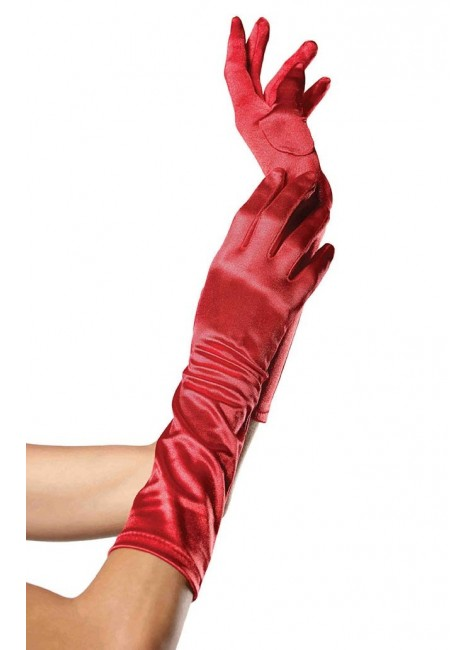Red Satin Elbow Length Gloves at Gothic Plus, Gothic Clothing, Jewelry, Goth Shoes & Boots & Home Decor
