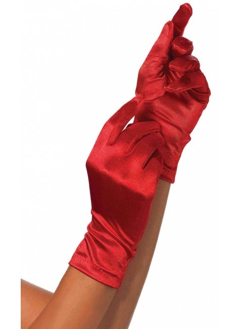Red Wrist Length Satin Gloves at Gothic Plus, Gothic Clothing, Jewelry, Goth Shoes & Boots & Home Decor