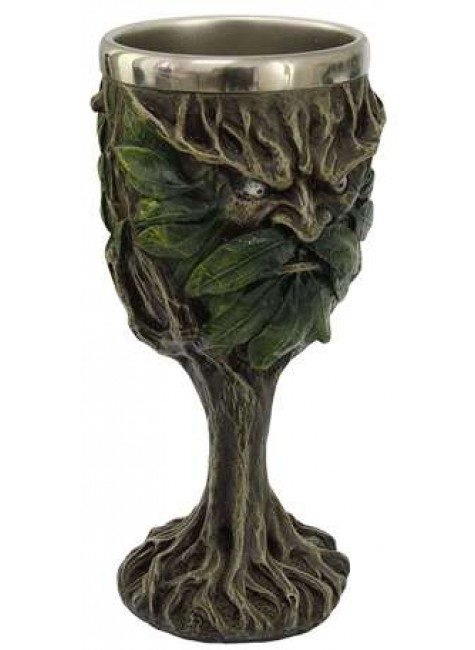 Greenman, Lord of the Forest Wiccan Altar Chalice at Gothic Plus, Gothic Clothing, Jewelry, Goth Shoes & Boots & Home Decor