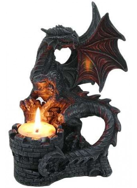 Dragon Candle Holder at Gothic Plus, Gothic Clothing, Jewelry, Goth Shoes & Boots & Home Decor