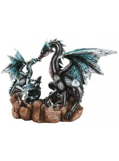 Dragon Family Statue Gothic Plus Gothic Clothing, Jewelry, Goth Shoes & Boots & Home Decor