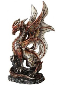 Steampunk Dragon Statue Gothic Plus Gothic Clothing, Jewelry, Goth Shoes & Boots & Home Decor