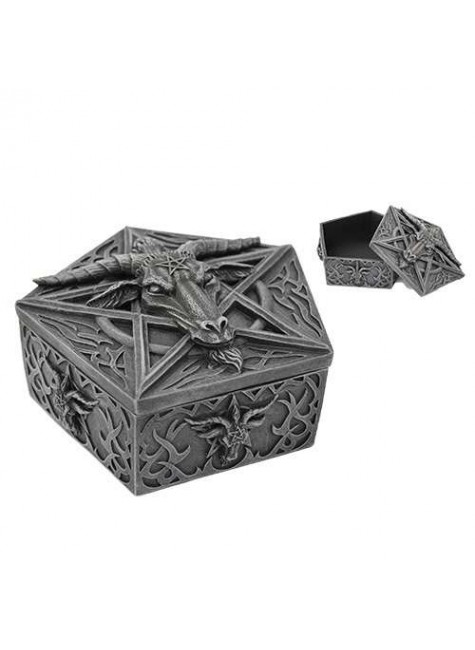 Baphomet Horned God Goat Trinket Box at Gothic Plus, Gothic Clothing, Jewelry, Goth Shoes & Boots & Home Decor