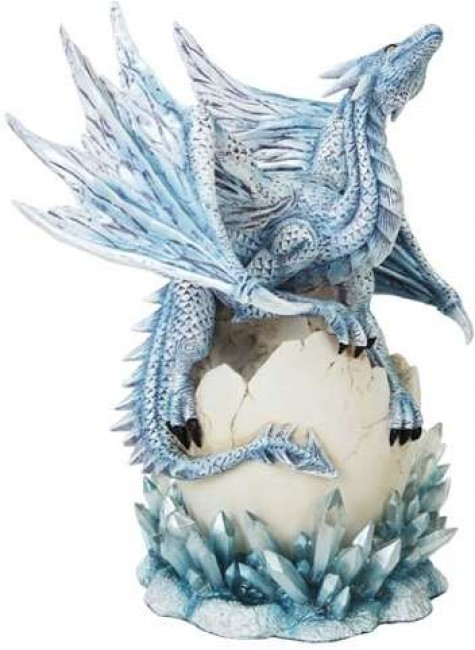 Dragon Hatchling on Crystal Statue at Gothic Plus, Gothic Clothing, Jewelry, Goth Shoes & Boots & Home Decor