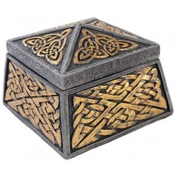 Celtic Knot Lidded Trinket Box Gothic Plus Gothic Clothing, Jewelry, Goth Shoes & Boots & Home Decor