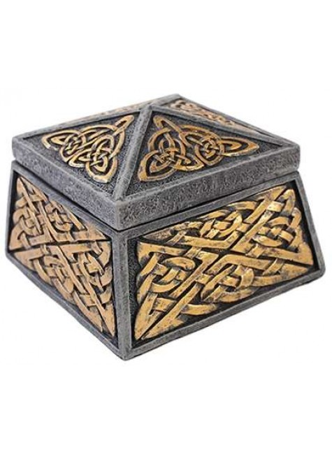 Celtic Knot Lidded Trinket Box at Gothic Plus, Gothic Clothing, Jewelry, Goth Shoes & Boots & Home Decor
