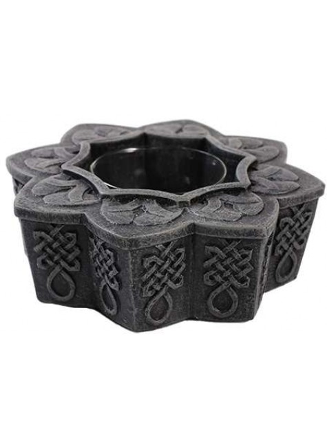Celtic Tea Light Candle Holder at Gothic Plus, Gothic Clothing, Jewelry, Goth Shoes & Boots & Home Decor