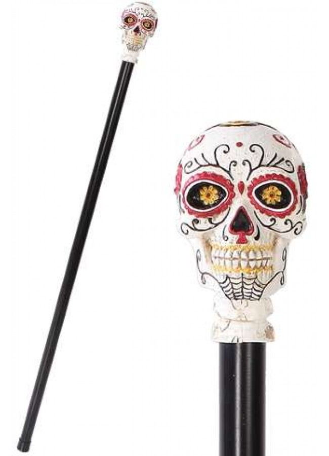 Sugar Skull Day Of The Dead Walking Swagger Stick Cane