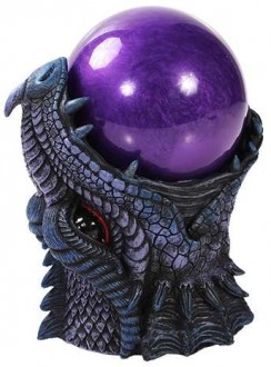 Dragon Head Storm Ball Statue Gothic Plus Gothic Clothing, Jewelry, Goth Shoes & Boots & Home Decor