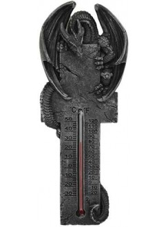 Dragon Gothic Wall Thermometer Gothic Plus Gothic Clothing, Jewelry, Goth Shoes & Boots & Home Decor