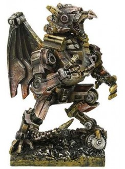 Steampunk Dragon Mech Statue Gothic Plus Gothic Clothing, Jewelry, Goth Shoes & Boots & Home Decor
