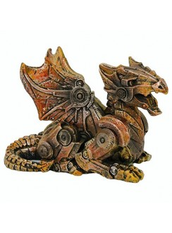 Steampunk Winged Small Dragon Statue Gothic Plus Gothic Clothing, Jewelry, Goth Shoes & Boots & Home Decor