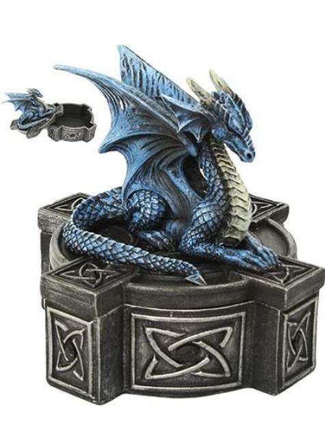 Celtic Cross Dragon Trinket Box at Gothic Plus, Gothic Clothing, Jewelry, Goth Shoes & Boots & Home Decor