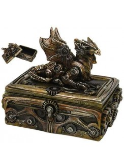 Steampunk Dragon Trinket Box
