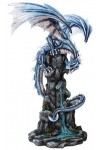 Blue Winged Dragon Mountain Statue