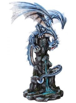 Blue Winged Dragon Mountain Statue Gothic Plus Gothic Clothing, Jewelry, Goth Shoes & Boots & Home Decor