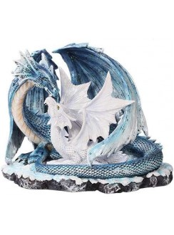 Mother and Baby Dragon Statue Gothic Plus Gothic Clothing, Jewelry, Goth Shoes & Boots & Home Decor