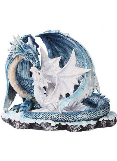 Mother and Baby Dragon Statue
