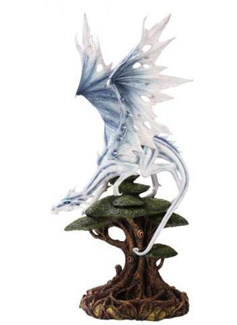 White Winged Dragon Tree Statue at Gothic Plus, Gothic Clothing, Jewelry, Goth Shoes & Boots & Home Decor