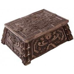 Aztec Bronze Resin Trinket Box Gothic Plus Gothic Clothing, Jewelry, Goth Shoes & Boots & Home Decor