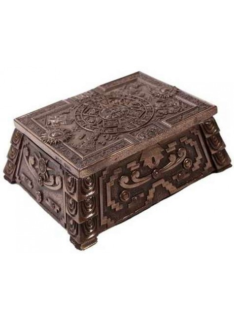 Aztec Bronze Resin Trinket Box at Gothic Plus, Gothic Clothing, Jewelry, Goth Shoes & Boots & Home Decor