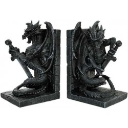 Dragon Heraldic Bookends Gothic Plus Gothic Clothing, Jewelry, Goth Shoes & Boots & Home Decor
