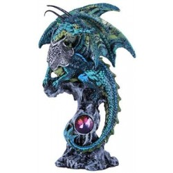 Blue Dragon Fantasy Art Statue Gothic Plus Gothic Clothing, Jewelry, Goth Shoes & Boots & Home Decor