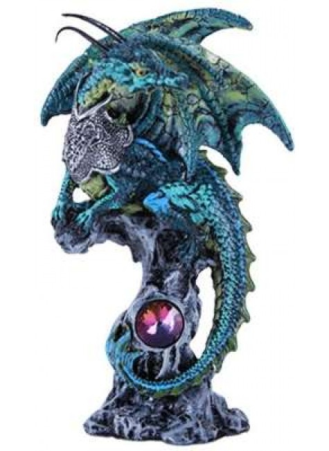 Blue Dragon Fantasy Art Statue at Gothic Plus, Gothic Clothing, Jewelry, Goth Shoes & Boots & Home Decor