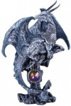 Gray Dragon Fantasy Art Statue