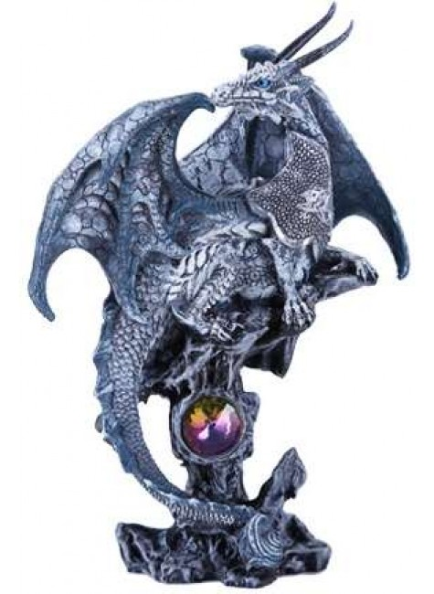 Gray Dragon Fantasy Art Statue at Gothic Plus, Gothic Clothing, Jewelry, Goth Shoes & Boots & Home Decor