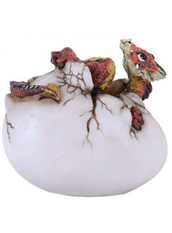 Red Dragon Egg Statue Gothic Plus Gothic Clothing, Jewelry, Goth Shoes & Boots & Home Decor