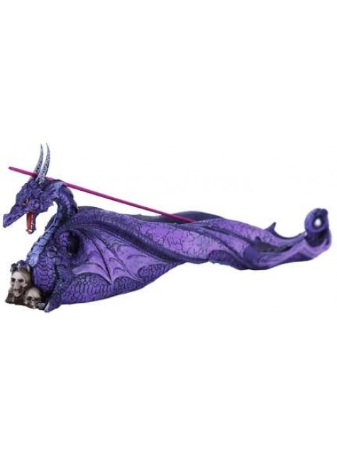 Purple Dragon Skull Incense Burner at Gothic Plus, Gothic Clothing, Jewelry, Goth Shoes & Boots & Home Decor