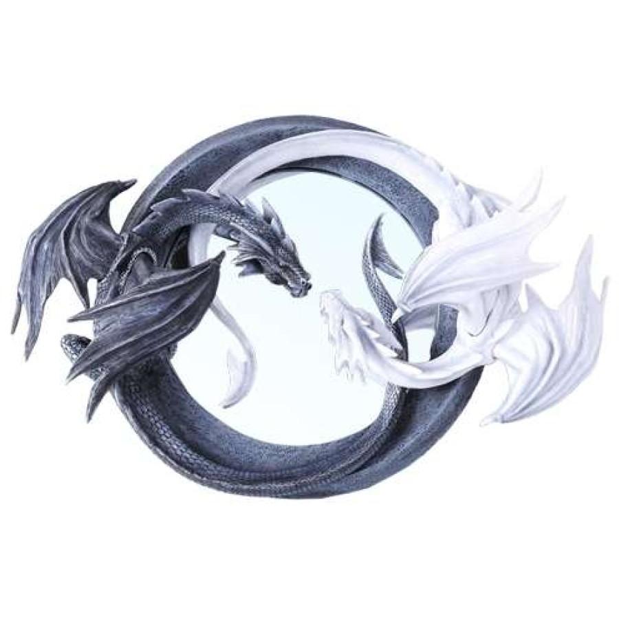 Ying yang dragon wall mirror amipublicfo Gallery
