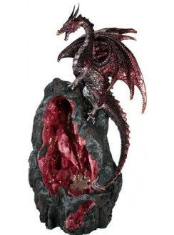 Red Dragon Backflow Incense Burner Gothic Plus Gothic Clothing, Jewelry, Goth Shoes & Boots & Home Decor