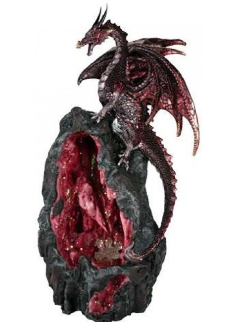 Red Dragon Backflow Incense Burner at Gothic Plus, Gothic Clothing, Jewelry, Goth Shoes & Boots & Home Decor