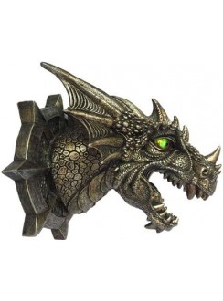 Trophy Dragon Head LED Wall Plaque Gothic Plus Gothic Clothing, Jewelry, Goth Shoes & Boots & Home Decor