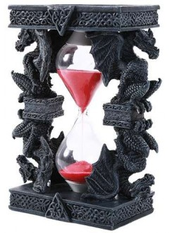 Celtic Dragon Sand Timer Gothic Plus Gothic Clothing, Jewelry, Goth Shoes & Boots & Home Decor